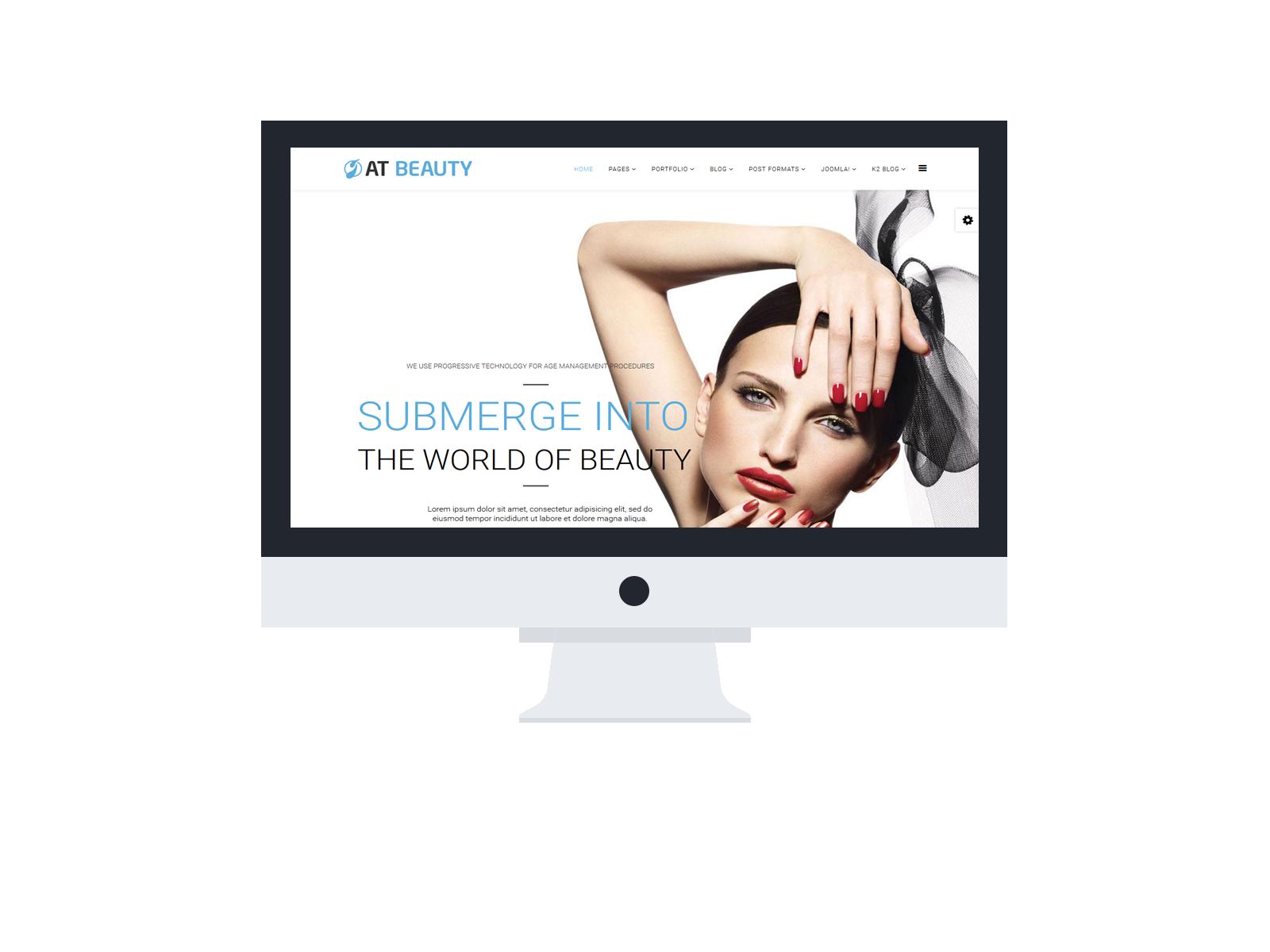 Template Layouts Free Beauty Joomla Template Desktop