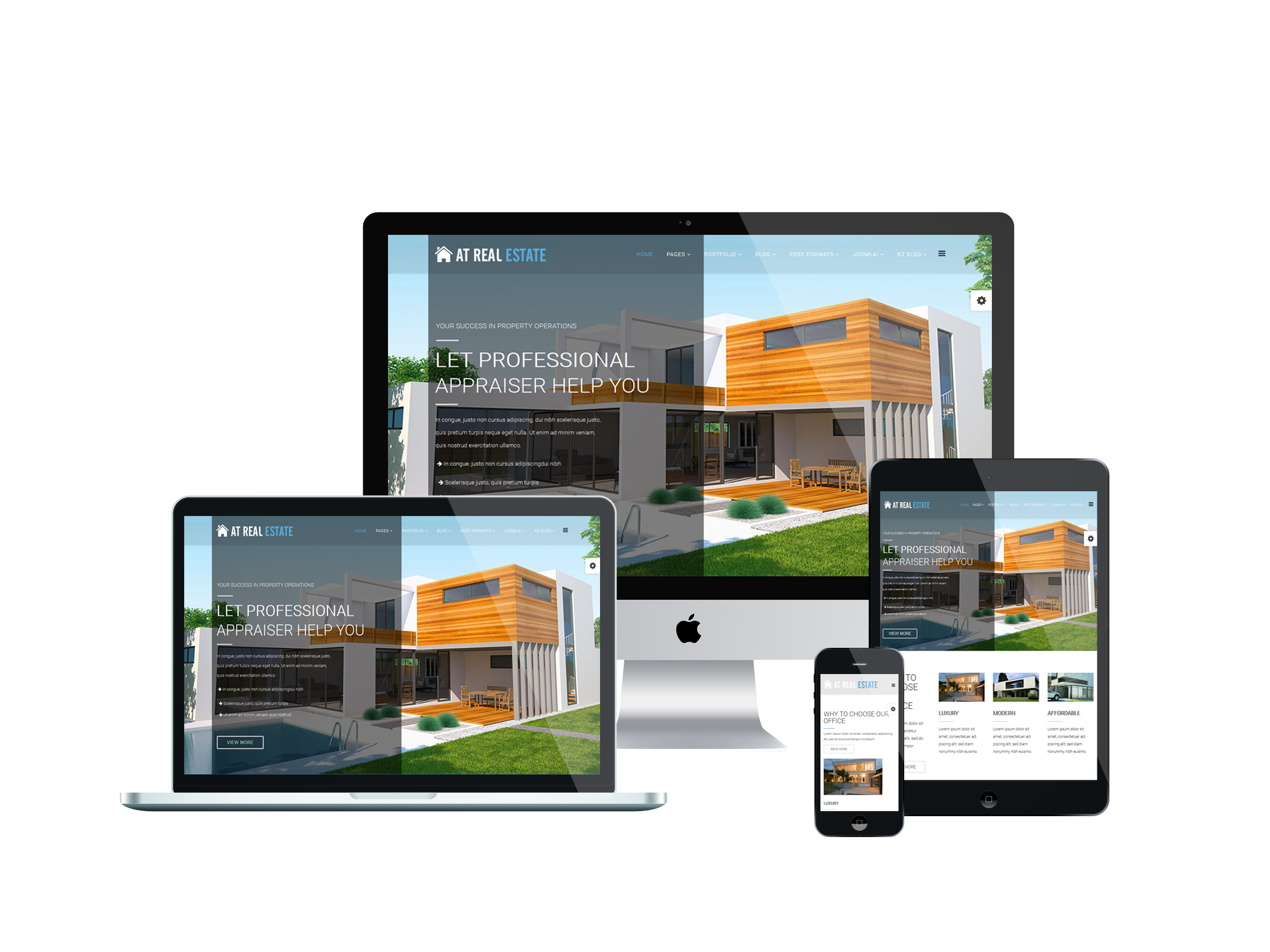 AT Real Estate - Free homes for rent / real estate Joomla template ...