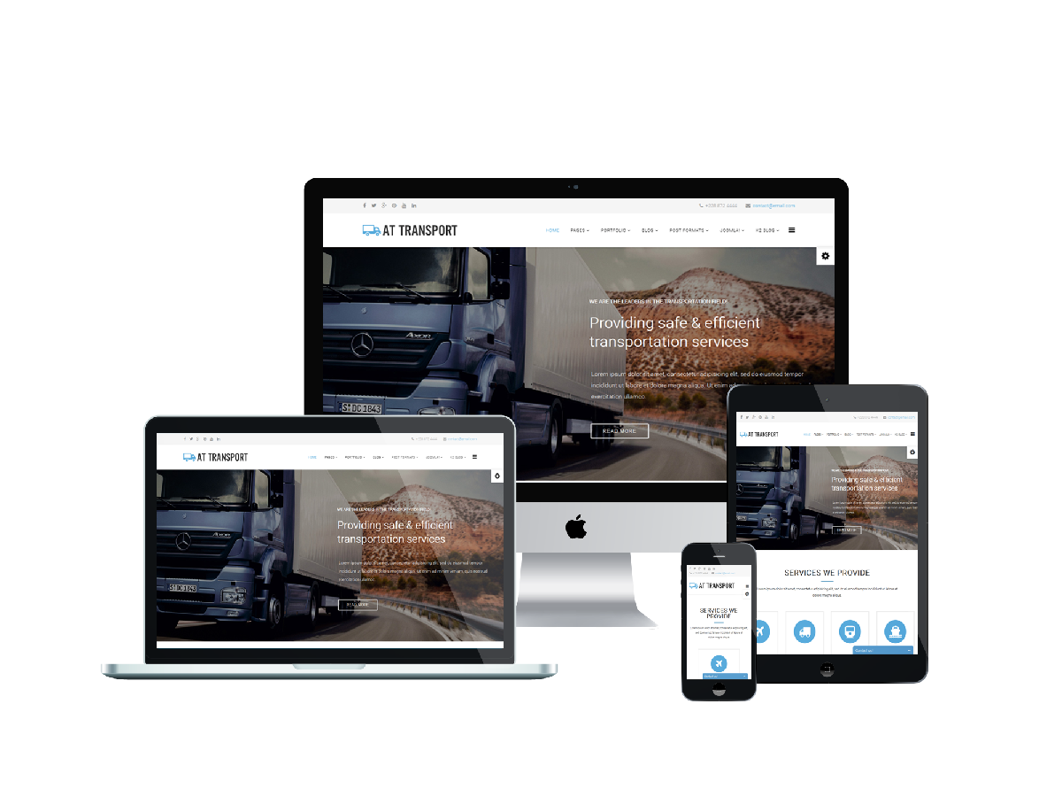 AT Transport - Free Automotive / Transport Joomla template - Age Themes
