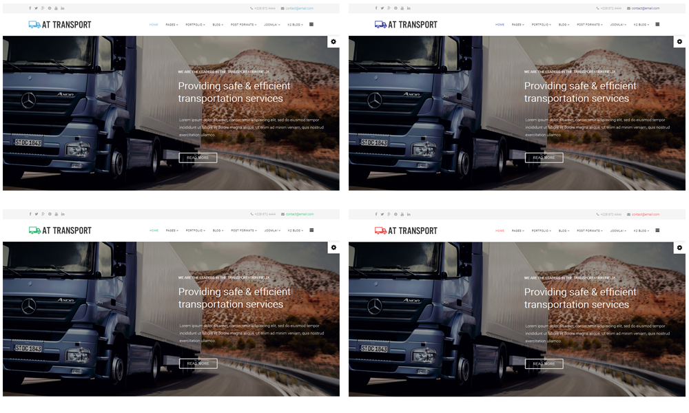 AT Transport Onepage - Free Automotive / Transport Onepage Joomla ...