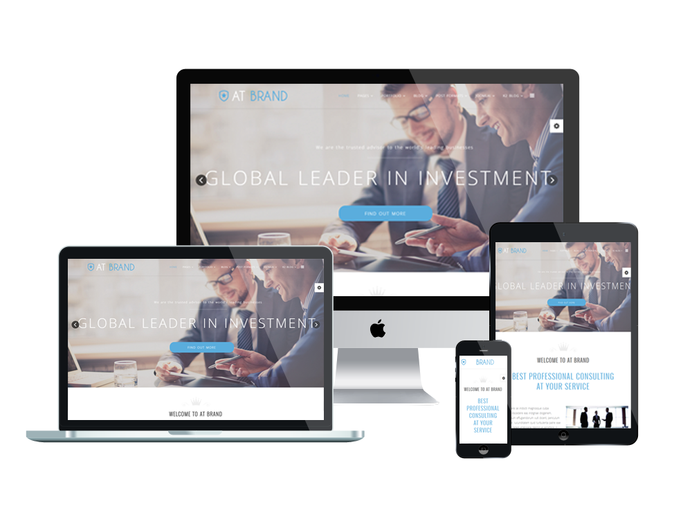 At brand free business launch joomla template age themes for Free joomla template creator software