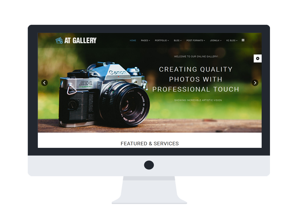 AT Gallery – Free Photography / Image Gallery Joomla Template - Age ...