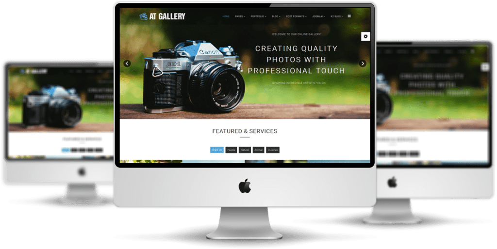 AT Gallery Joomla template Preview