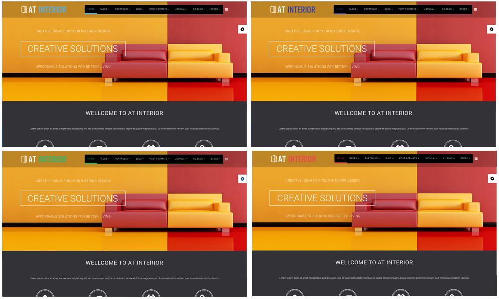 AT Interior Joomla! Template Color Styles