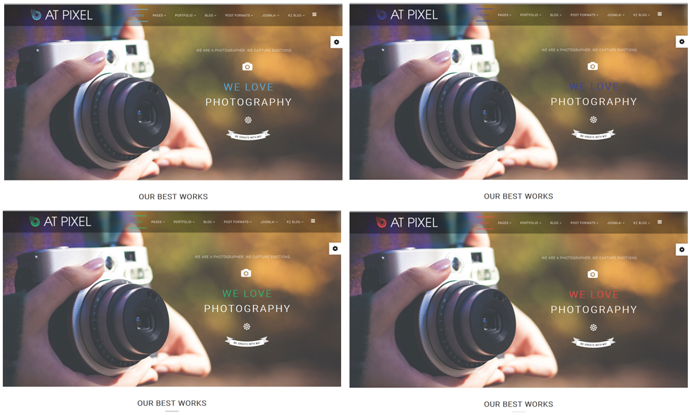 AT Pixel – Free Photography Joomla Template - Age Themes