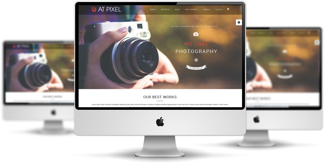 AT Pixel Joomla template preview