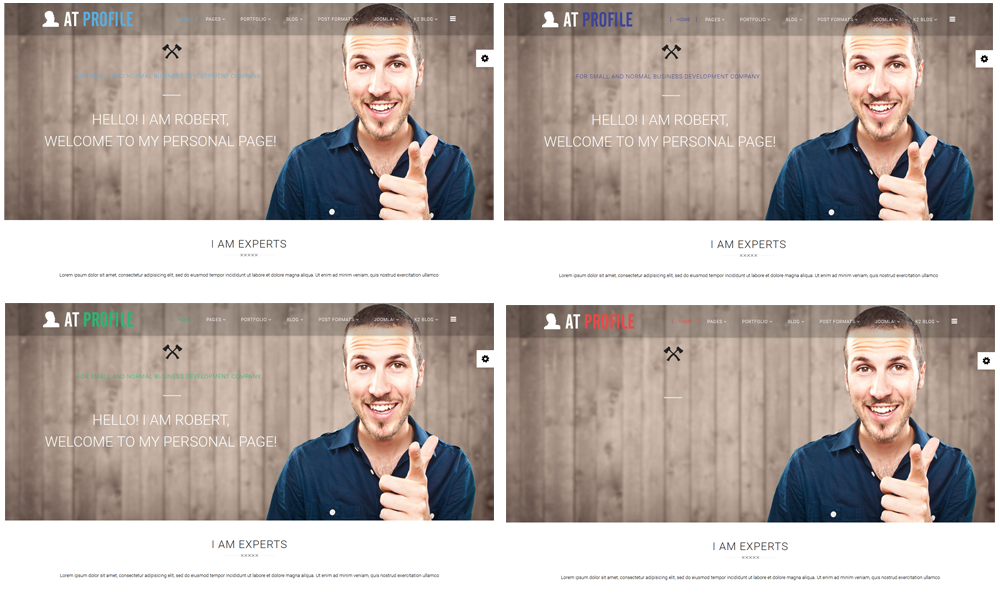 at profile joomla template color styles