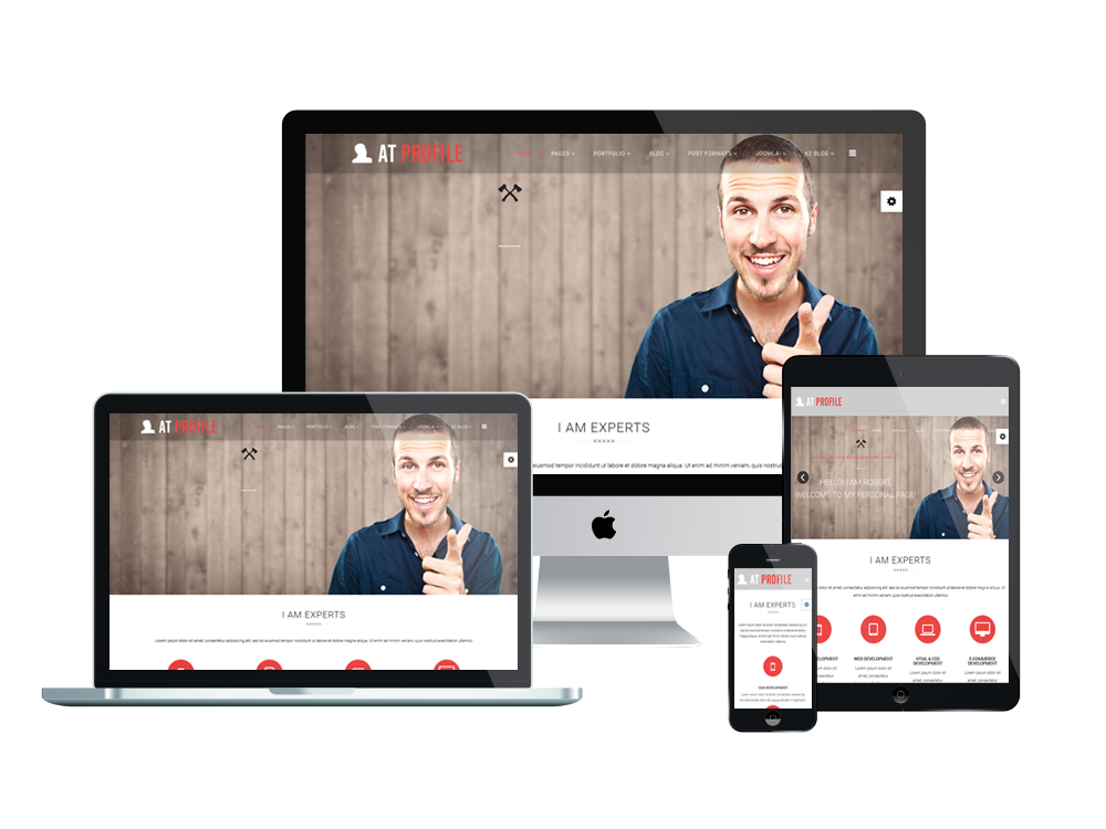 at profile responsive joomla template - Resume Cv Joomla Template