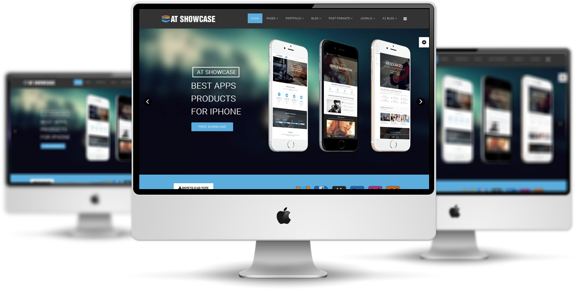AT Showcase Joomla template Preview