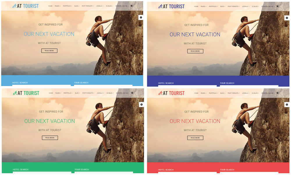 AT Tourist Joomla! template Color Styles