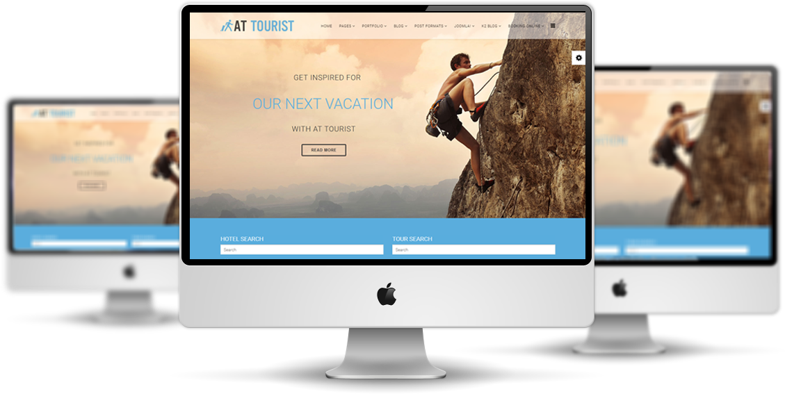 AT Tourist Joomla! template Preview