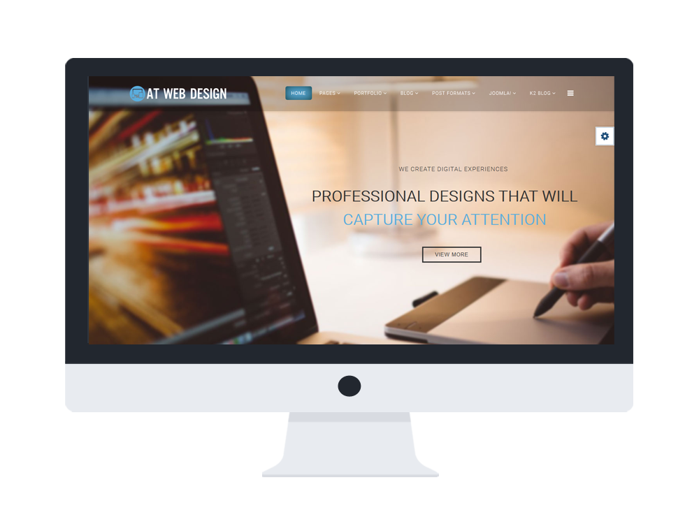 AT Web Design – Free Web Development / Web Design Joomla Template ...