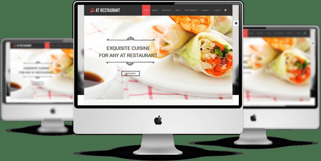 LT Restaurant Joomla! template Preview
