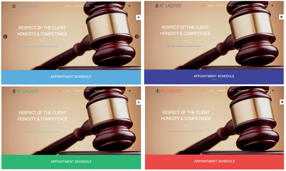Lawyer Joomla! template Color styles