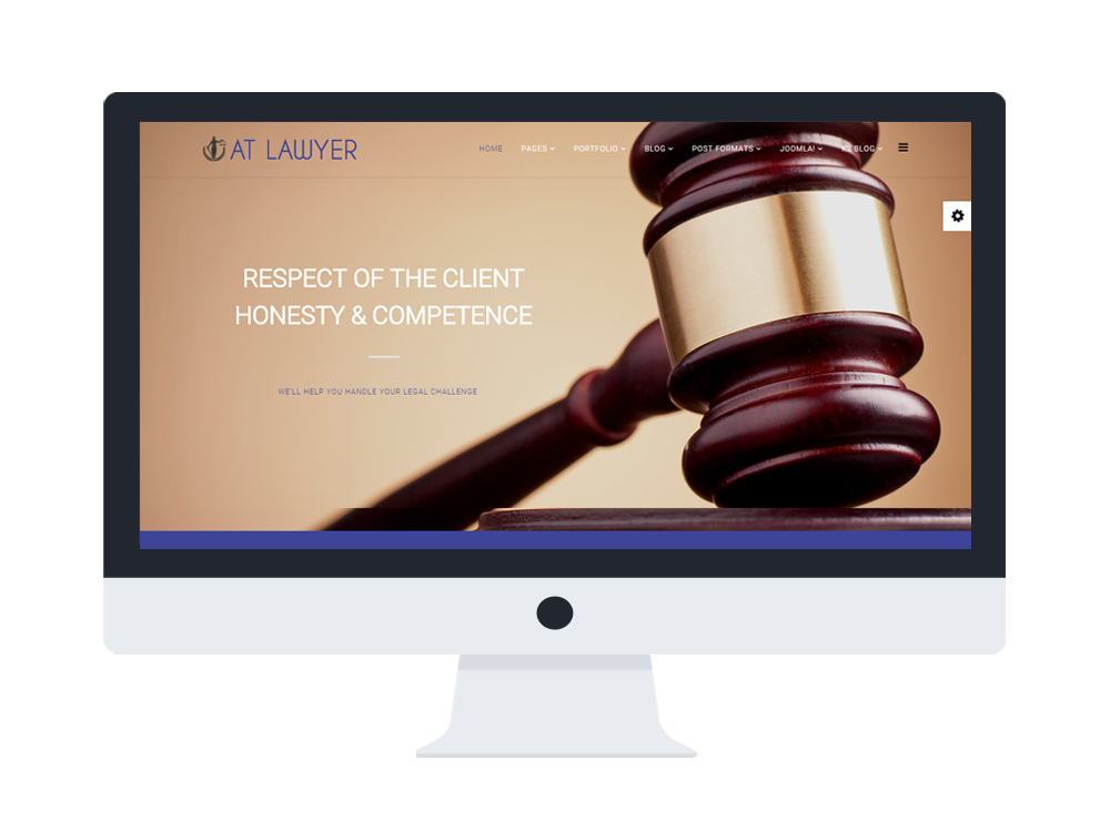 Lawyer Joomla! template Desktop