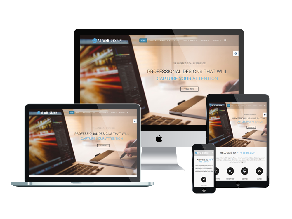 responsive at web design joomla template