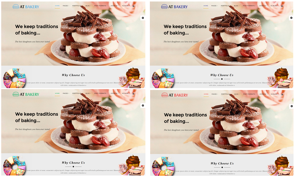 AT Bakery Joomla template Color Styles