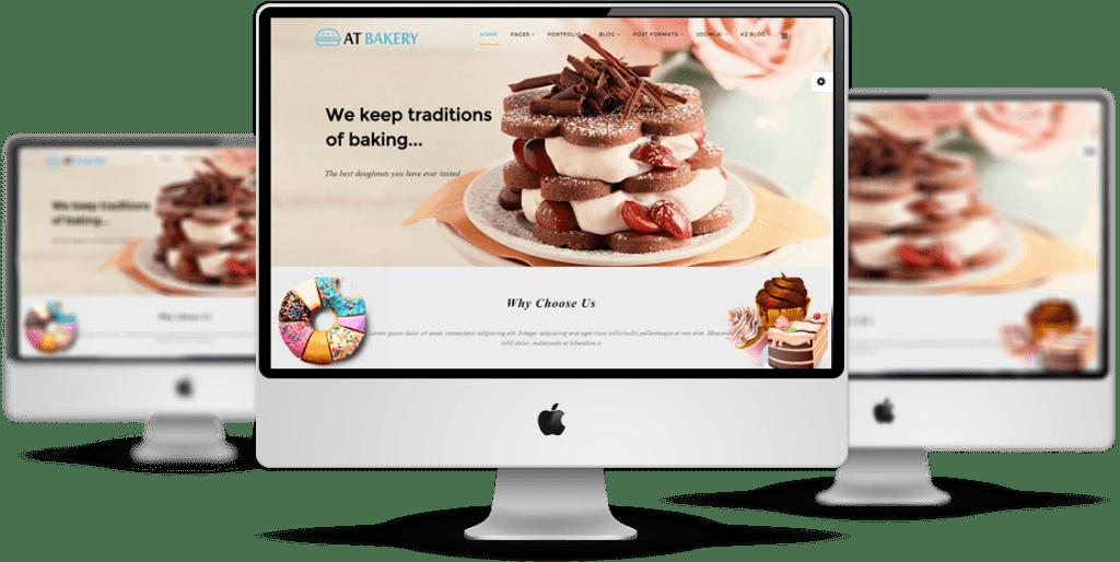AT Bakery Joomla template Desktop