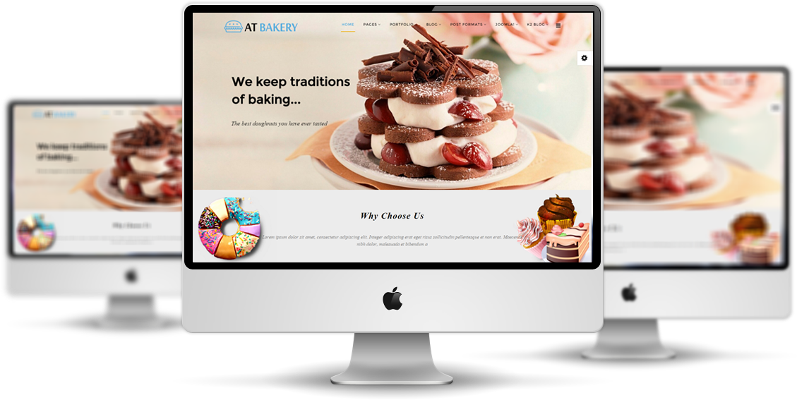 AT Bakery Joomla template Desktop