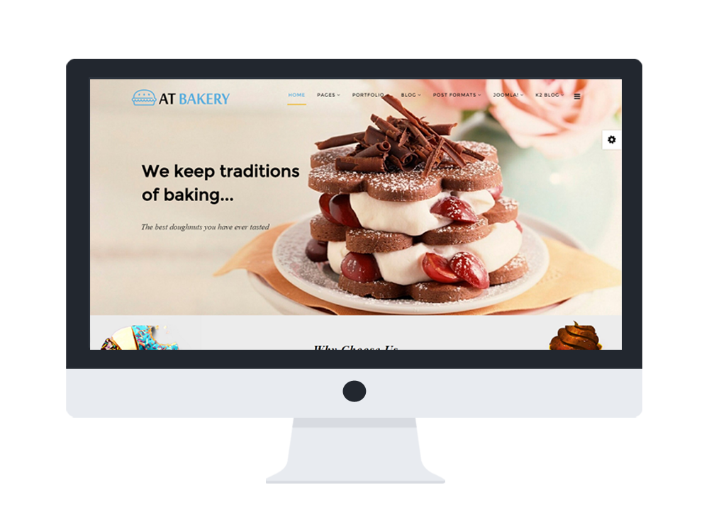 AT Bakery Joomla template Main