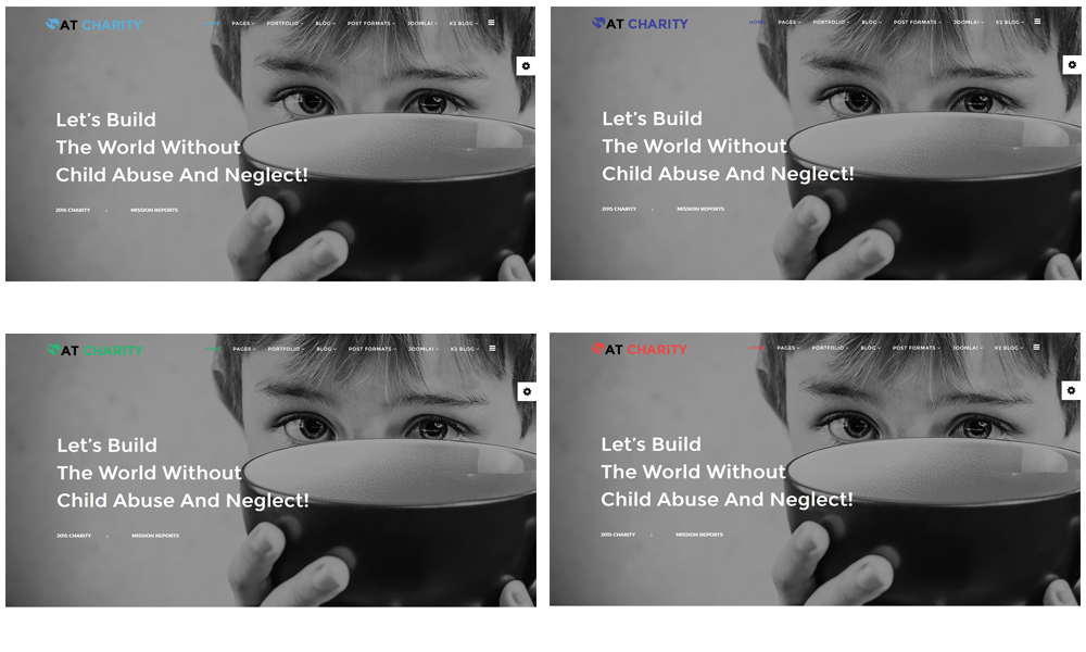 AT Charity Joomla template Color Styles