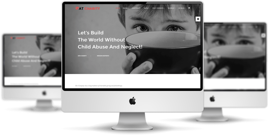 AT Charity Joomla template Desktop