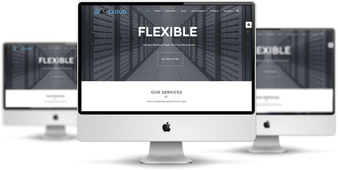 AT Cloud Joomla template desktop