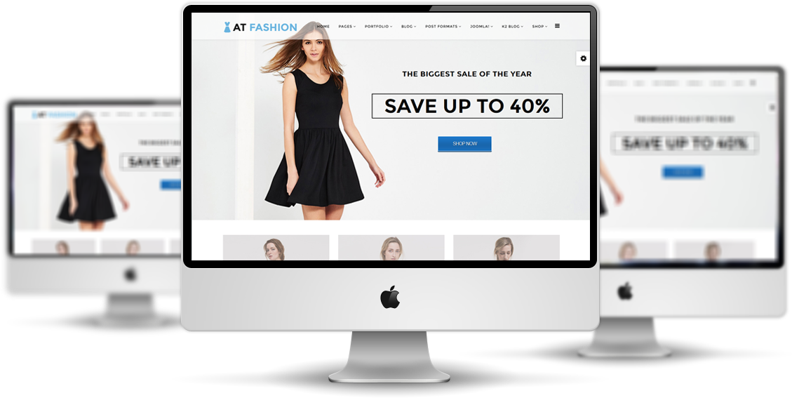 AT Fashion Shop Joomla template desktop