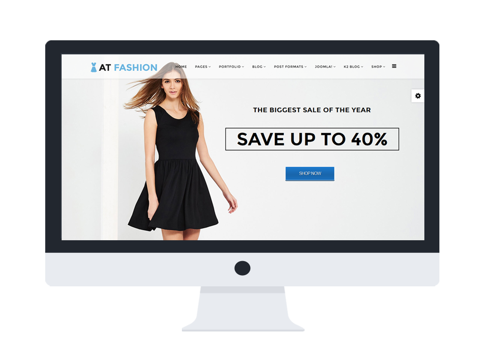 AT Fashion Shop Joomla template preview