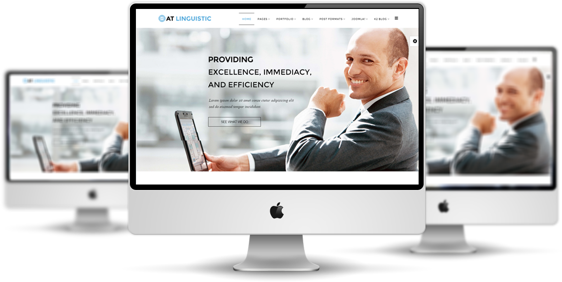AT Linguistic Joomla template Desktop