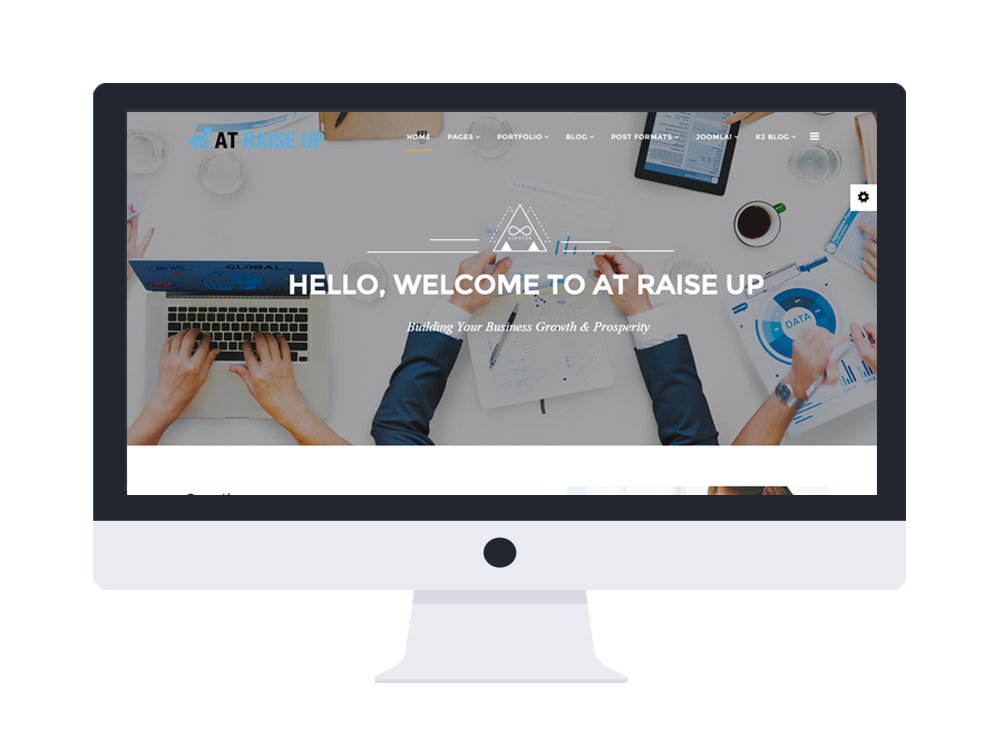 AT Raise Up Joomla template Preview