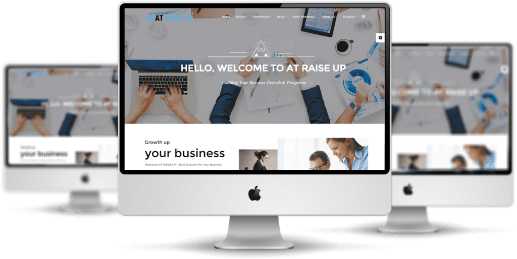 AT Raise Up Joomla template desktop