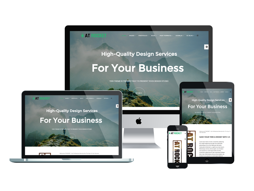 AT Rocket Responsive Joomla template