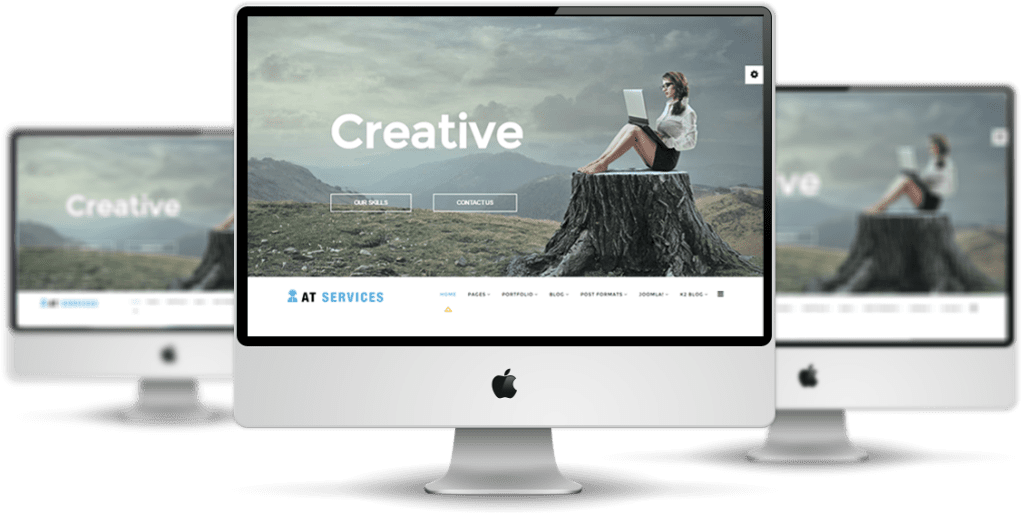 AT Services Joomla template desktop