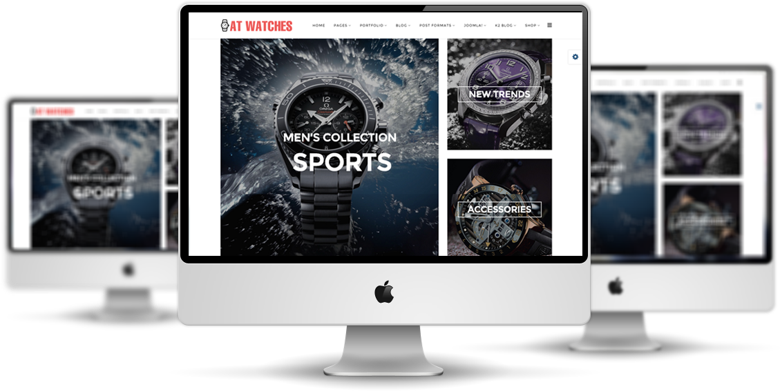 AT Watches Shop Joomla template desktop