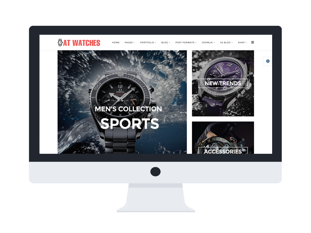 AT Watches Shop Joomla template preview