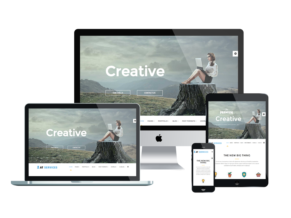 Respnsive AT Services Joomla template