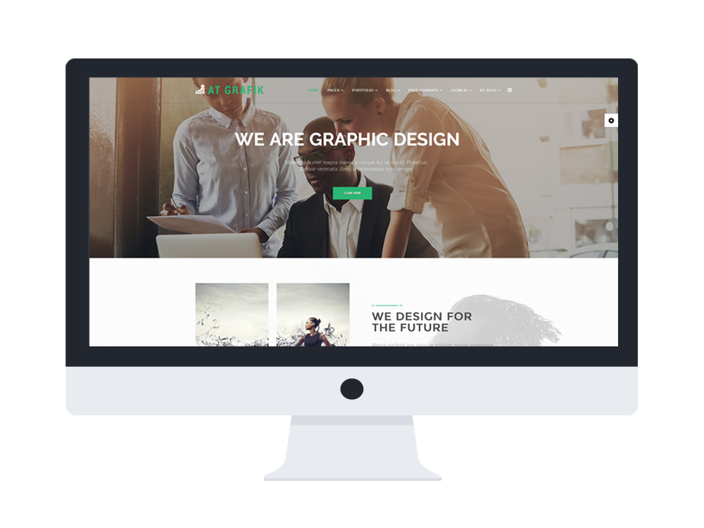 AT Grafik Responsive Joomla! template desktop view Main