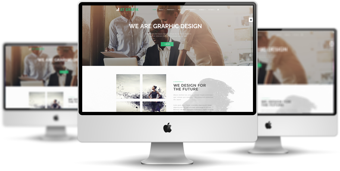 AT Grafik Responsive Joomla! template desktop view