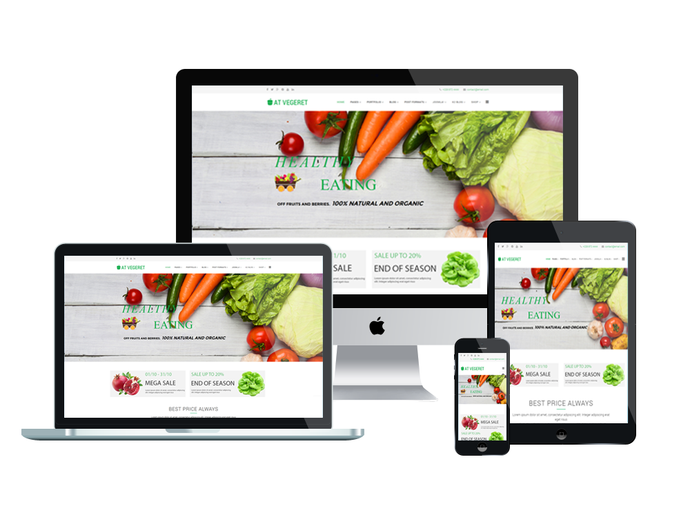 at vegeret free organic food shop joomla template age themes. Black Bedroom Furniture Sets. Home Design Ideas