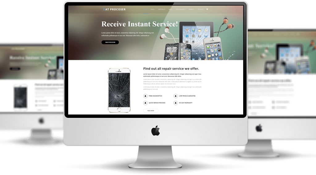 at procoser free mobile maintains computer repair service template age themes