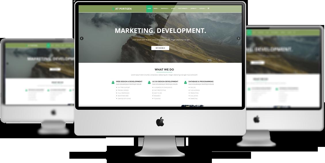 At Portgen Free Responsive Creative Business Portfolio