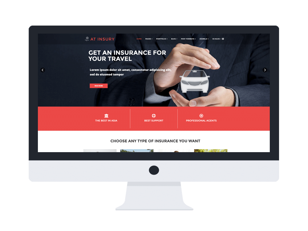 free joomla insurance templates  AT Insury – Free Responsive Insurance Joomla template - Age Themes