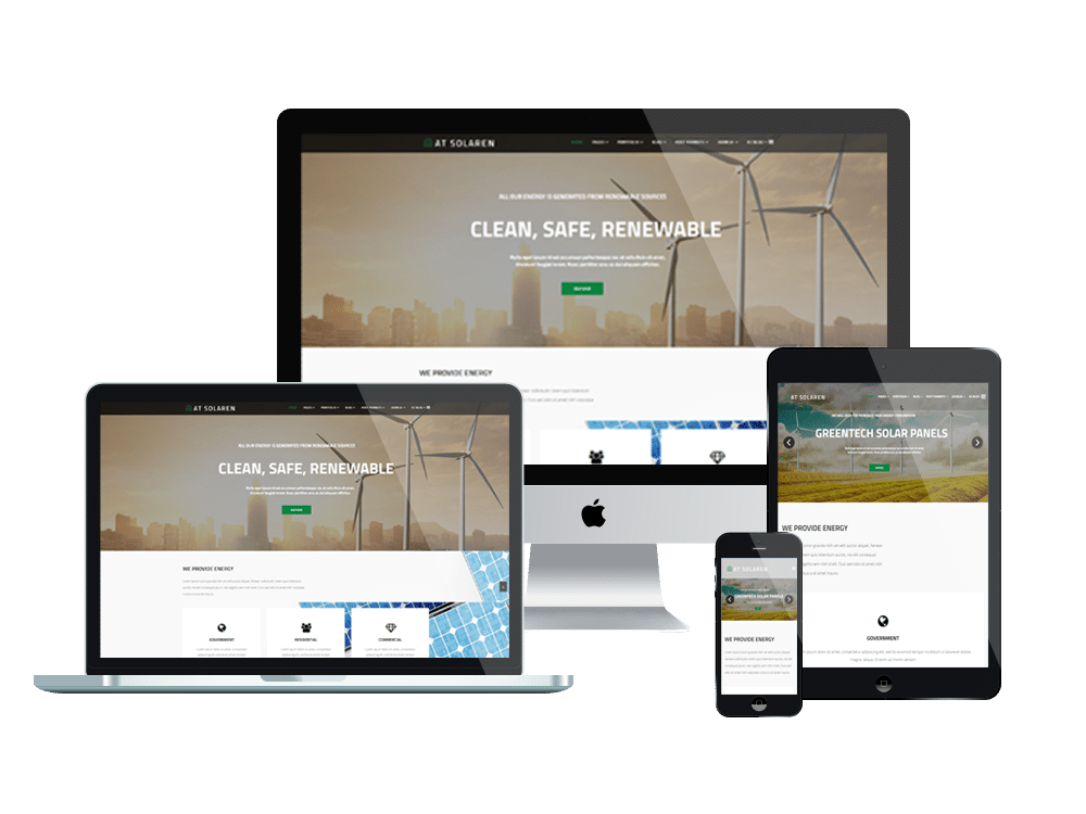 At solaren free responsive solar energy joomla template for What is a responsive template