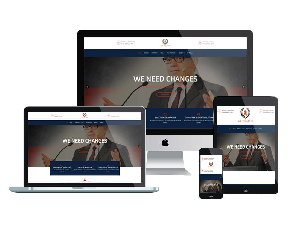 free joomla template creator software - at politix free responsive politics joomla template