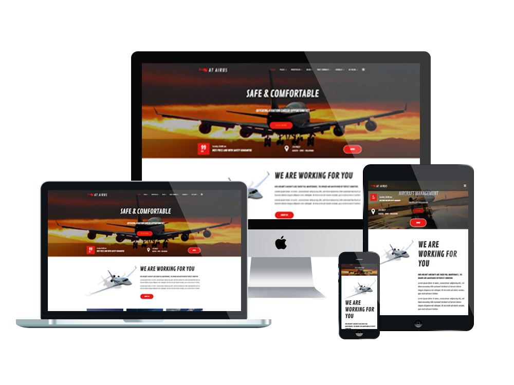 At airus free responsive private airline joomla template for Free responsive joomla templates