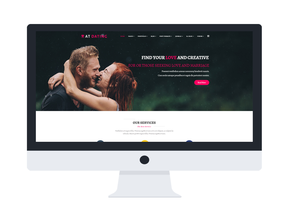 Joomla dating site theme