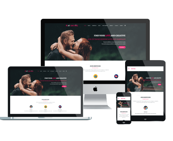 at dating free responsive joomla template