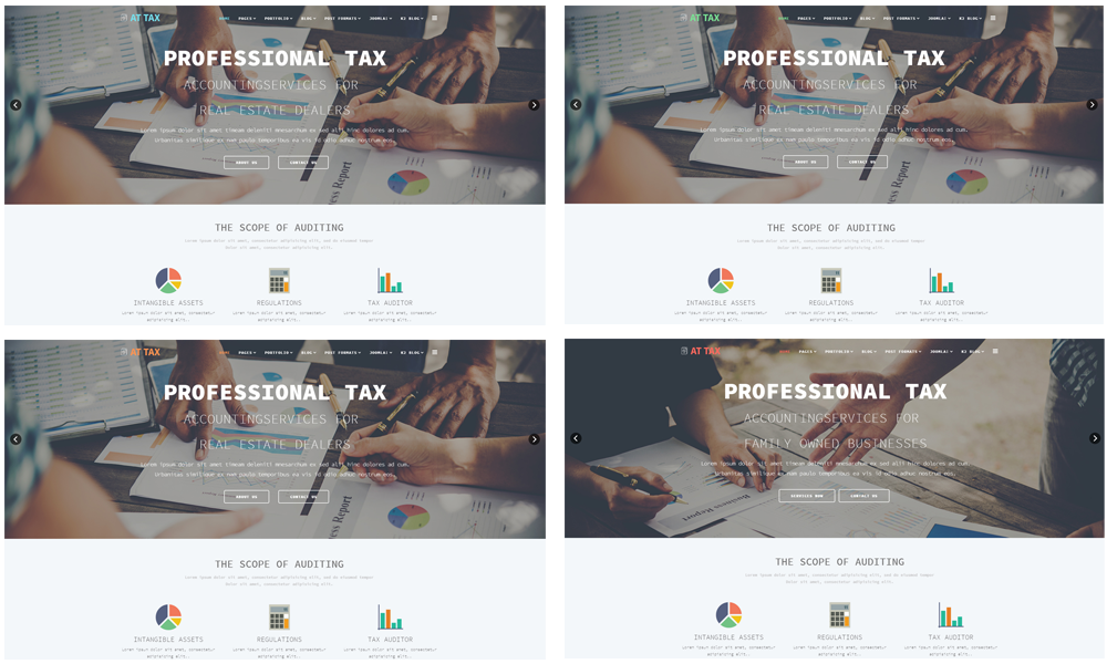 AT Tax Free Responsive Tax Website Templates - Tax website templates