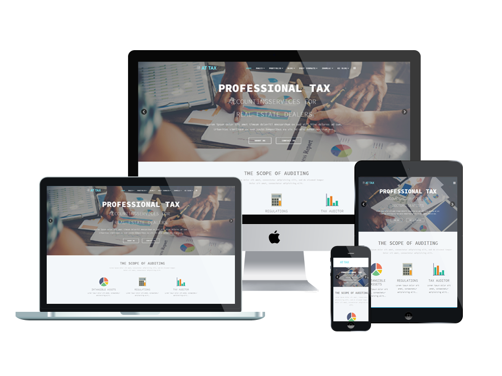 At Tax Free Responsive Joomla Template